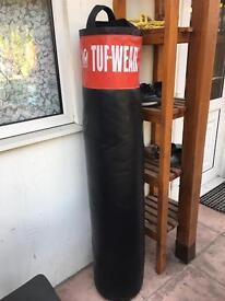 Tuf-Wear Black Red Muay Thai Punch Bag
