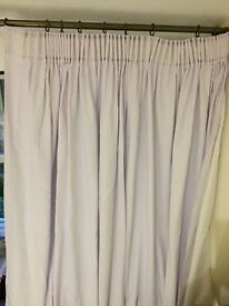 Pretty fully lined lilac curtains