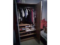 IKEA PAX wardrobe with mirror door and handy shelves £80