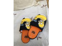 Homer Simpson size 7 men's men at work slippers new