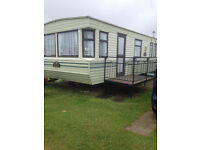 Caravan to hire rent let ..3 bed on Kingfisher Caravan Park Ingoldmells Skegness.. Oct 2016 Dates