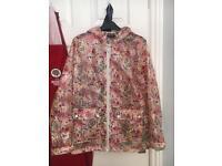 Topshop floral raincoat