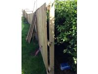 4x4 Brand new pressure treated fence posts