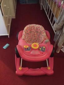 Pink Car Walker Baby/Toddler