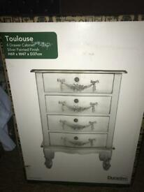Brand new Dunelm bedside draws
