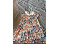Ladies Floral Swing Dress