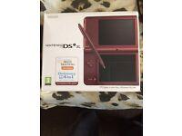 Nintendo dsi xl red wine colour brand new