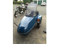 Squire motorcycle sidecar blue