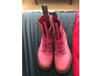 Women's Pink Doc Martens