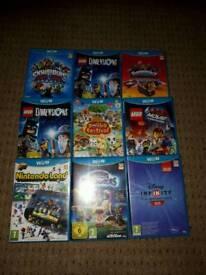Wii u games x 9