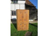 Late Victorian pitch pine corner cupboard