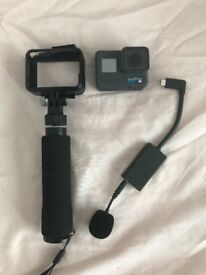 GoPro Hero6 with mount and microphone
