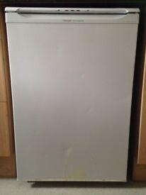 White Hotpoint undercounter freezer