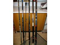Large collection of Fishing Rods, Poles & Reels