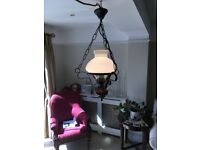 "Traditional style ""gas-lamp"" cottage electric ceiling lights"