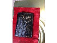Genuine Cash/Credit Cards Wallet from alligator skin by Salvatore Ferragamo