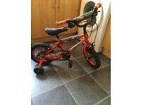 LIGHTNING McQUEEN BIKE WITH STABILISERS