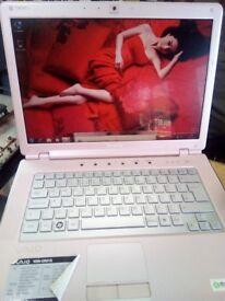 Sony core2duo laptop windows7,wifi,dvd-rw ready to use