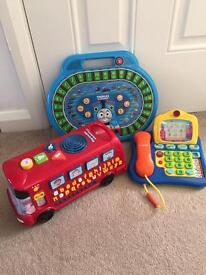 Vtech Playtime Bus, Vtech Telephone and Thomas Letter Engine