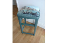 Vintage upcycled stool - £30