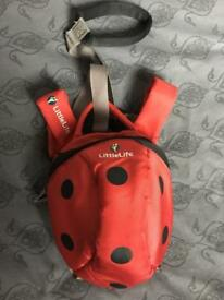LittleLife Ladybird toddler day backpack