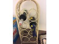 Shabby chic wire wine rack