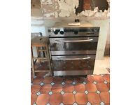 Under counter creda double oven cooker silver