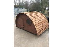 Children's wooden/timber mini hobbit houses playhouses/sheds all ready for summer must go £375.00