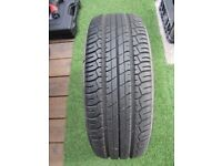 """Dunlop Sport 2000 tyre on 15"""" Rover spare wheel"""