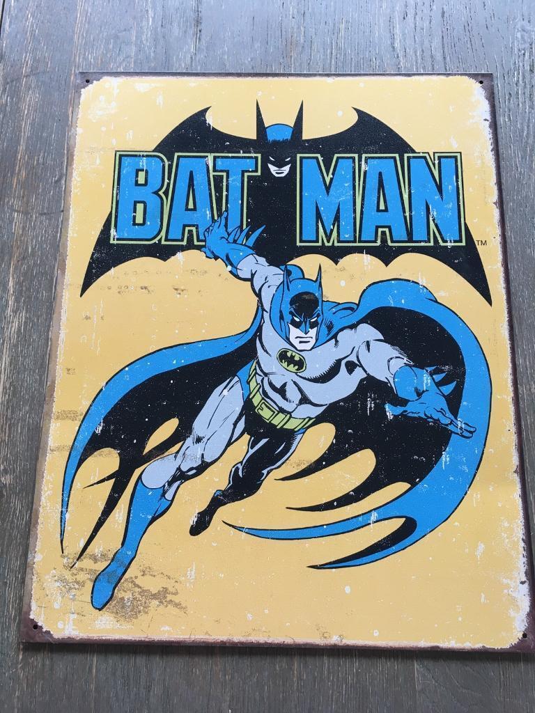 Tin sign of Batman