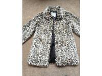 Girls fur coat, age 12-13