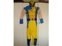 Boys Marvel Deluxe Wolverine Costume age 7-8 years