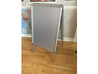 A-Board Double Side Aluminium Pavement Sign Snap Frame Poster Display Stand
