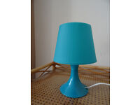 Blue desk lamp