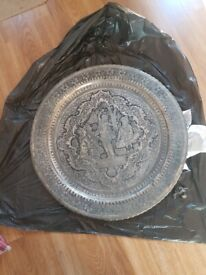 Indian Engraved Serving Tray