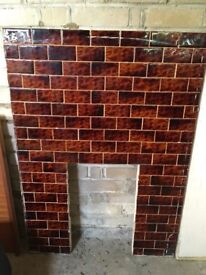 **Free** Tiled fireplace inner section