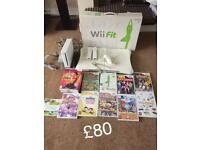 Wii fit and Wii console games bundle