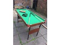 Green Foldable Pool Table