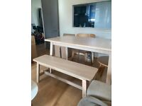 Ikea table and bench