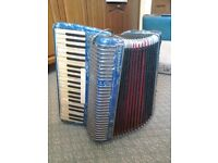 Scandalli Symphony Four 120 Bass Piano Accordion. Not working.