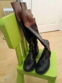 Women High Knee and Ankle boots size 8 -9 for sale Real leather