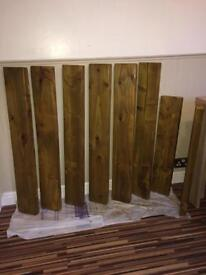 Wooden shelving or beams ask for anything else you'd like makingg