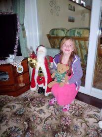 Christmas ornaments Plus Fibre optics tree & Santa