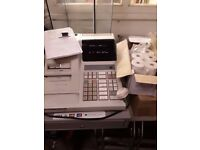 JCM GOLD G-223 cash register with till rolls, keys (x2), spare ink cartridge and OWNERS MANUAL!!!