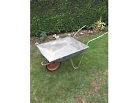 Used Bulldog Galvanised Garden Wheelbarrow with Soild Rubber Tyre