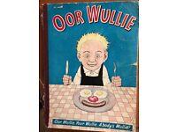 Oor Wullie, The Broons Rare Antique Original 1960 Hardback Comic Book