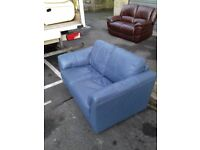 Comfy Mordern 2 seater Leather Sofa Good condition FREE Delivery