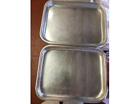 Butchers stainless steel trays all size and other bits.