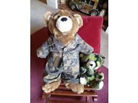 "Build a Bear ""Army Guy and Raw Recruit"" - Shipley"