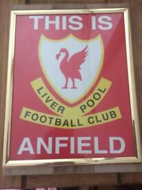 This is anfield framed picture